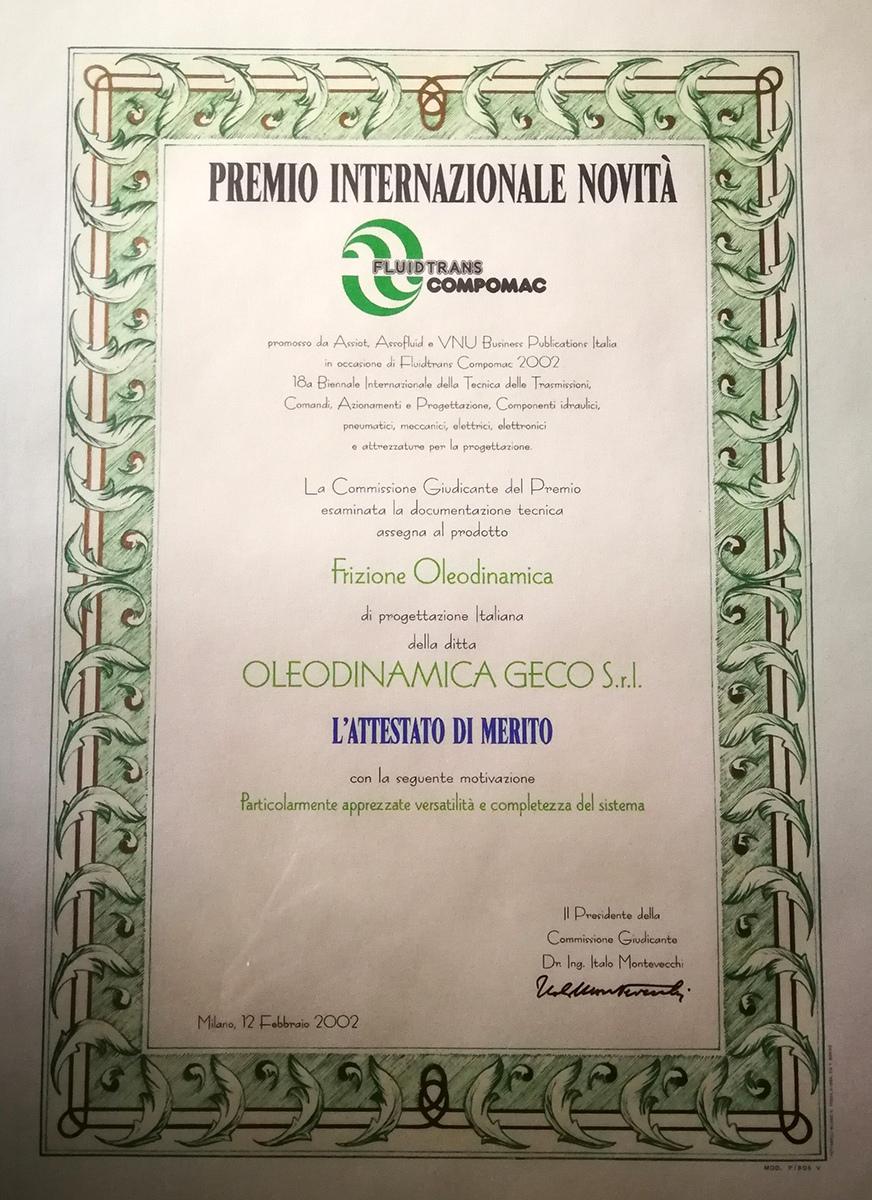 3 Oleodinamica Geco - Premio-novità-2002
